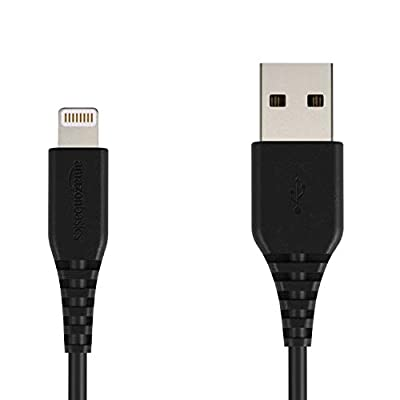 AmazonBasics Lightning to USB A Cable for iPhone and iPad - MFi Certified - 6 Feet (1.8 Meters) - Black
