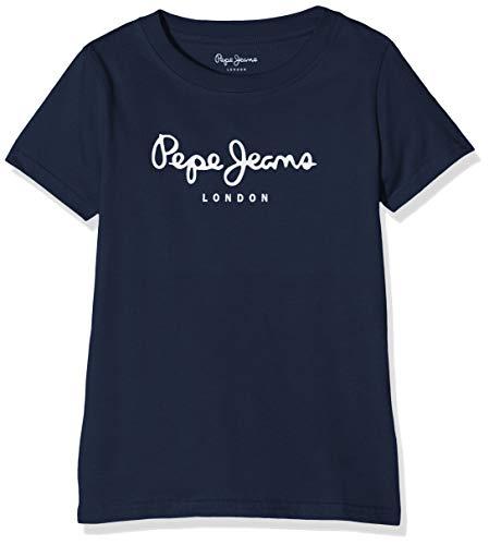 Pepe Jeans Art T-Shirt, Azul (Navy 595), 13-14 Anos para Niños