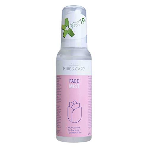 PUCA - PURE & CARE Face Mist Rosen - Dieses Gesichtsspray sorgt für einen kühlenden Feuchtigkeits-Boost, 100% Vegan, 100ml