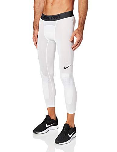 NIKE M NP Dry Tght 3qt Bball Mallas, Hombre, White/Black, XL