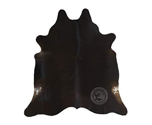 Sunshine Cowhides Alfombra de Piel de Vaca Negro Tono Oscuro 220 x 200 cm Pieles del Sol