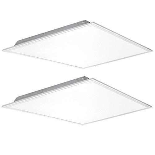 (2 Pack) Kadision 2x2 FT LED Flat Panel Light 40W, 5200LM 5000K Daylight 100-277V Recessed Troffer Fixture, 0-10V Dimmable Back Lit Commercial Ceiling Lights