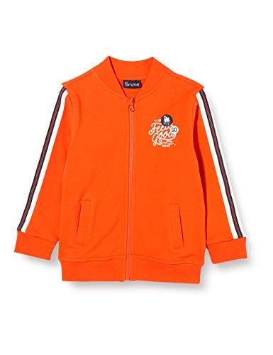 Brums Baby-Jungen Top Full Zip F.ina Pullover, Orange (Arancio Scuro 08 487), 86 (Herstellergröße: 18M)