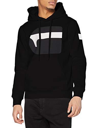 G-STAR RAW Mens G RAW Hooded Sweatshirt, dk Black A971-6484, M