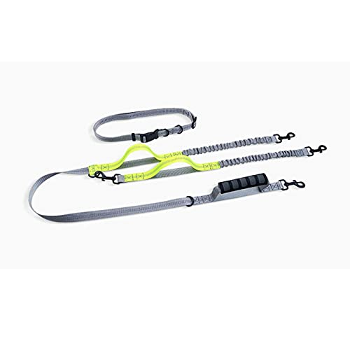 N\C Leash, Two Hands-Free Dog Leashes, Double-Ended Leash For Running Reflective Elastic Dog Leashes
