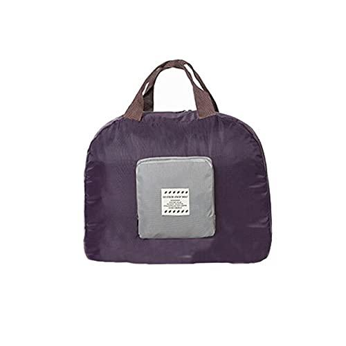 Bolsa de viaje plegable bolsa de almacenamiento de equipaje impermeable ropa interior artículos de tocador cosméticos bolsa con asas bolsillo organizador bolsas