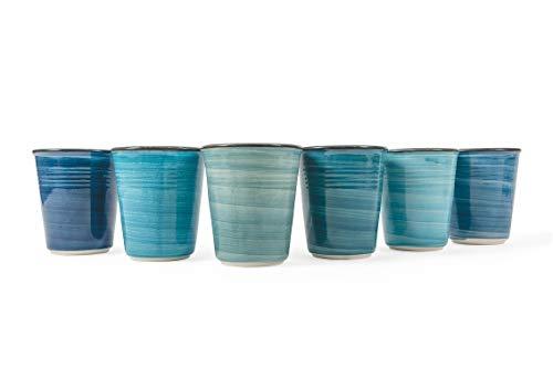 Villa d'Este Home Tivoli Baita - Juego de 6 vasos de agua, cerámica