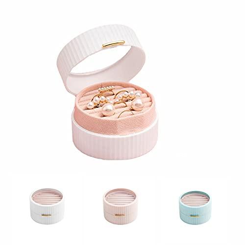 IceDIAMOND, elegante scatola organizer per gioielli multistrato anti-ossidazione, piccolo contenitore portatile per gioielli da mettere in borsa per donne e ragazze (bianco)