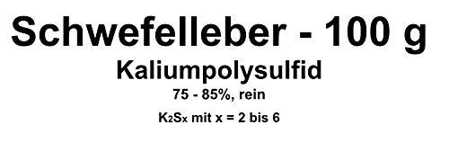 100g azufre Hígado, potasio Poly sulfuro k2sx (75–85% pura) Cobre, Plata beizen (Artificial Envejecer Lassen)