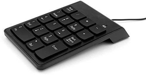 MEDIA MALL ABS Plastic USB 2.0 Wired Numeric Keypad for Laptop Tablet Desktops (Black)