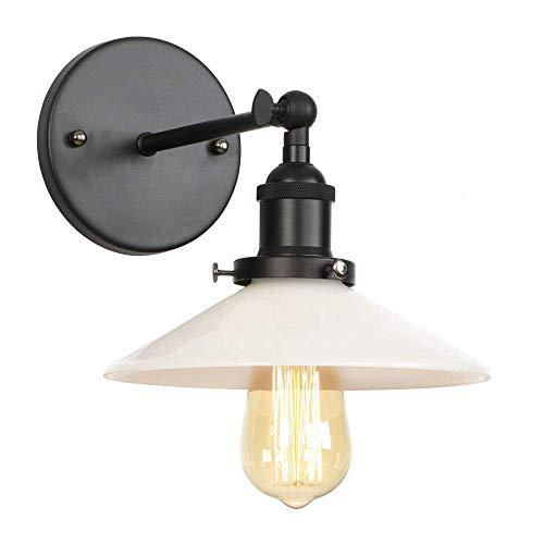 Balanceo de los brazos de metal lámpara de pared Paraguas retro de pantalla de cristal cubierta LED E27 ajustable oscilación del brazo de hierro y le aplique Dormitorio Cocina Sala de Estudio de pared