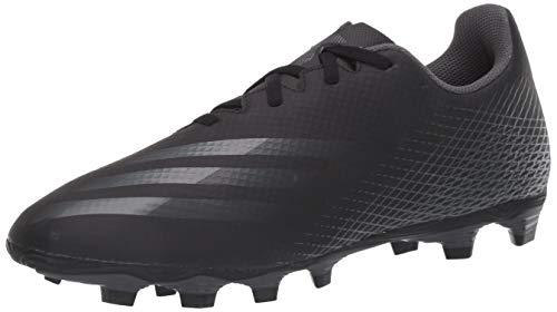 adidas Men's X GHOSTED.4 Soccer Shoe, Black/Grey/Black, 10.5