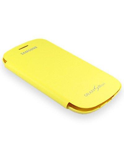 SAMSUNG Original Galaxy S3 Mini (GT-I8190 / GT-I8200) Flip-Tasche (EFC-1M7FYEGSTD) - gelb