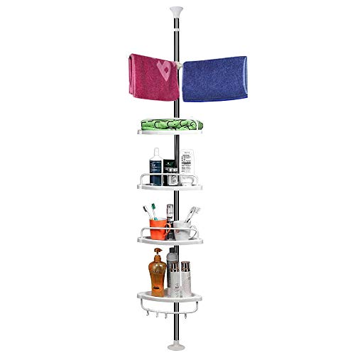 Shower Caddy Standing Shower Caddies Tension Pole Shower Organized and Tidy with a Tension Shower Caddy Bathtub Storage Organizer for Organizing Hand Soap
