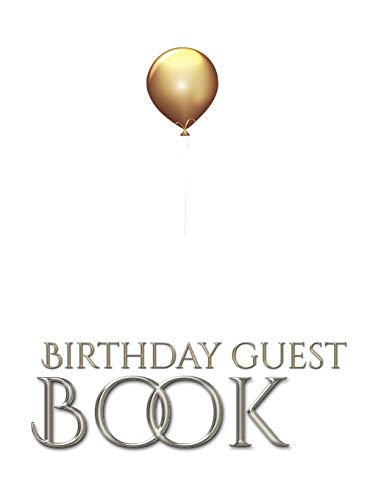 gold ballon stylish birthday Guest book mega 480 pages 8x10 Sir Michael designer edition