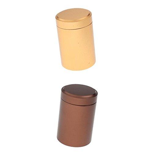 Bonarty 2 Soportes de Aluminio para Píldoras, Estuche para Píldoras, Tarro de Té, Caja de Pastillas para Llevar Todos Los Días, Contenedor, Caja Seca para Sob