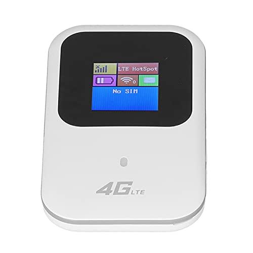 PUSOKEI Hotspot Móvil con Pantalla LCD, Mini Adaptador De Red Inalámbrico Conveniente, Enrutador Wi-Fi De 150Mbps 2.4G / 5G 4G LTE, para Teléfono Inteligente, Tableta, Computadora Portátil
