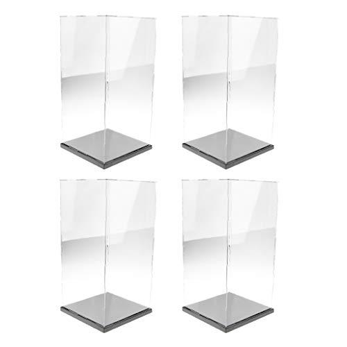 lahomia 4x Gran Vitrina Transparente para Figuras Modelo a Prueba de Polvo 21x21x41cm