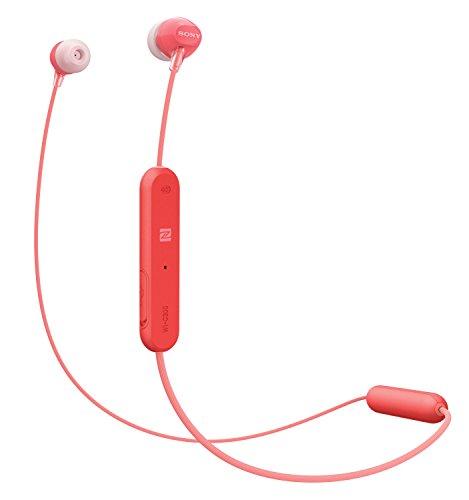 Sony WI-C300R - Auriculares Inalámbricos (Bluetooth, NFC, Manos libres), Color Rojo, 25
