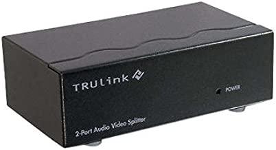 C2G 39967 2-Port VGA Monitor Splitter/Extender with 3.5mm Audio (Female Input) Black