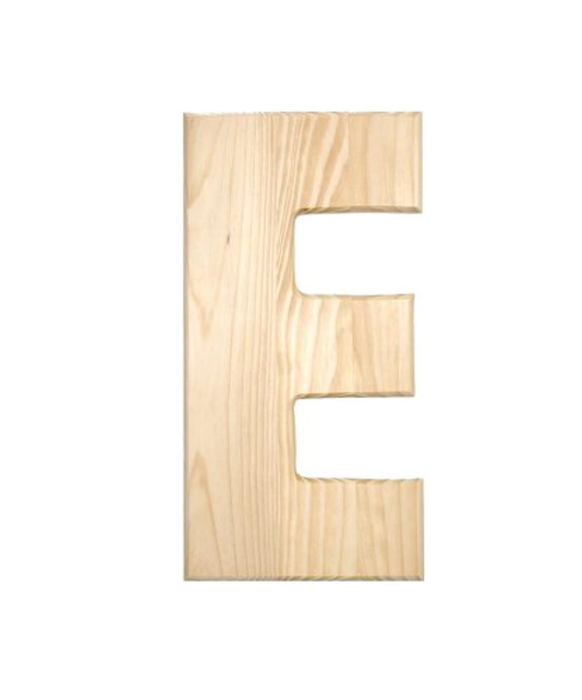 Darice 0993-E Natural Unfinished Wood Letter E, 12-Inch