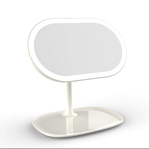 Iwino Draagbare make-upspiegel, led-lamp, zonder snoer, oplaadbaar op batterijen, touch-display