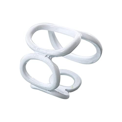 N/A/A Chunky Rings - Anillo de plástico transparente y colorido, estilo Y2K, diseño único, bonito retro, abierto, regalo para mujeres, adolescentes y niñas, Blanco, talla única