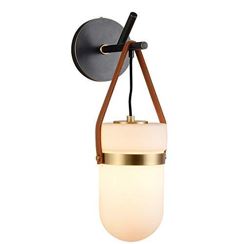 Jklt wandlamp Nordic wandlamp woonkamer slaapkamer trap balkon Aisle creatieve koperen glazen wand kandelaar veranda lamp prachtige en artistieke decoratieve elementen