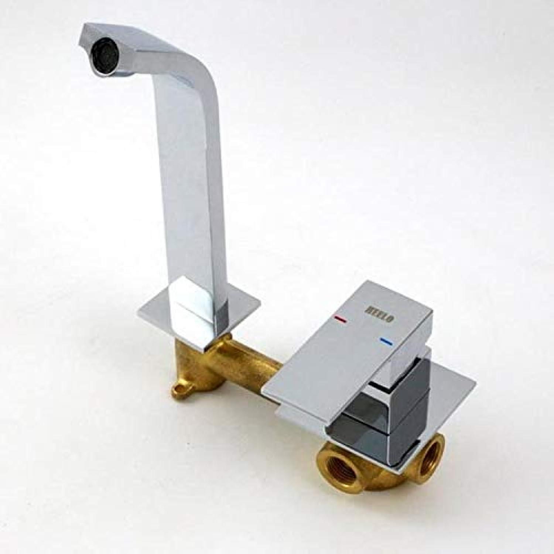 JWLT Export Waschraum, Waschraum, Waschbecken, Wasserhahn, europischen Stil, Kupfer, dunkel, Wand Waschbecken Wasserhahn, hei und kalt.