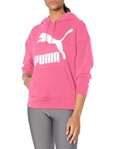 PUMA Classics Hoodie Sudadera, Rosa (Glowing Pink), XS para Mujer