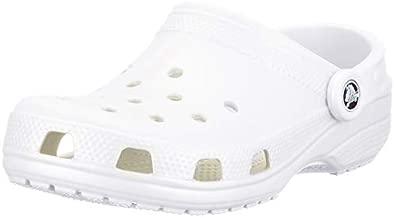 Crocs Unisex-Adult Classic Clog | Water Comfortable Slip on Shoes, White, 9 Women/7 Men