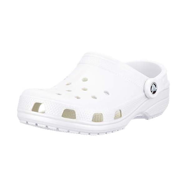 Crocs Classic Clog | Comfortable Slip on Casual Water Shoe, White, 6 M US Women / 4 M US Men