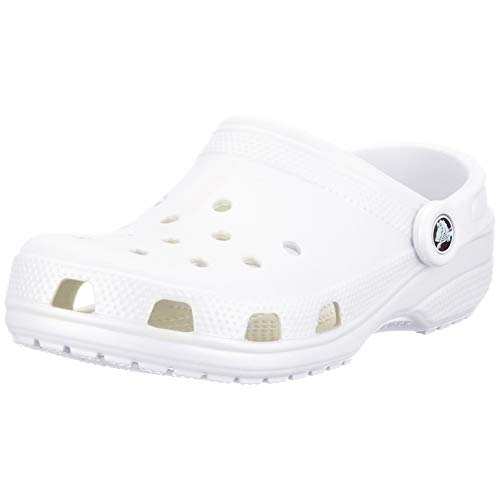 Crocs unisex adult Classic | Water Shoes Comfortable Slip on Shoes Clog, White, 16 Women 14 Men US