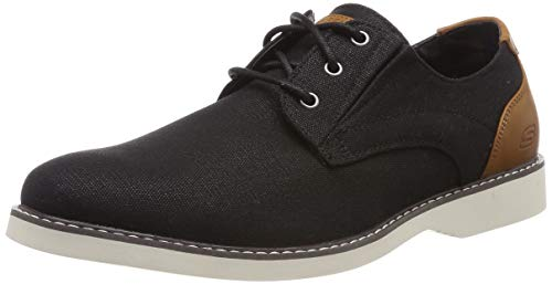 Skechers Men's Parton-WILCON Canvas Oxford, BLK, 9 Medium US
