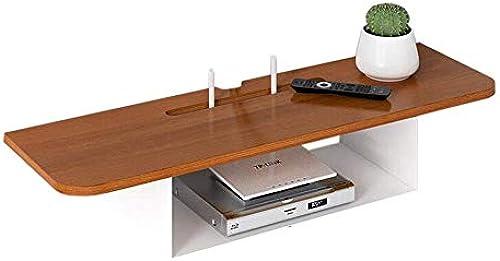 Willesego Set Top Box Regal Wandhalterung Router Lagerregal Regal TV Wand Massivholz und Schmiedeeisen (Farbe   -, Größe   -)