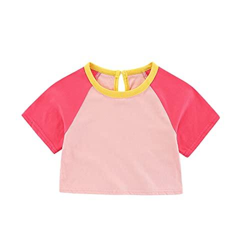 YWLINK Camiseta Superior Casual De La Camisa Suelta del MurciéLago De La Costura del AlgodóN De Las Muchachas Cortas Mujer T-Shirt Manga Corta NiñA Retro tee T Shirt Regalo Camisa Verano Tops