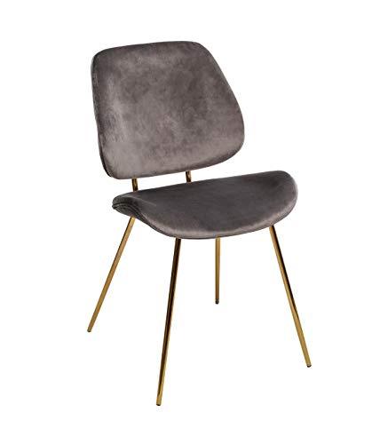 Slow Grey Velvet Chair