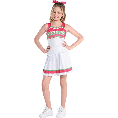 Party City Addison Cheer Halloween Costume for Girls, Disney's Zombies 2, Medium, Includes Top, Skirt and Hair Bow