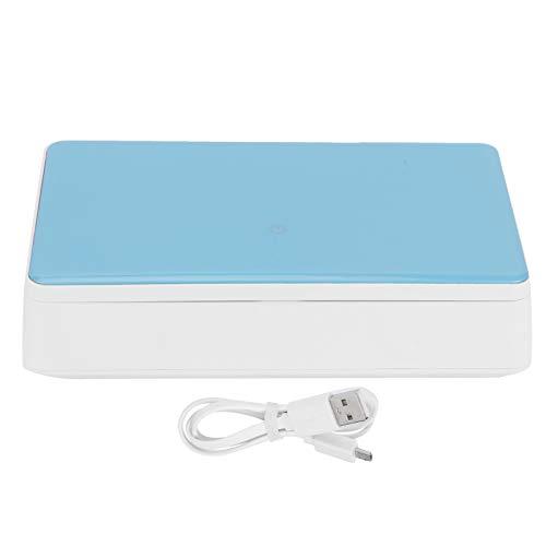 Limpiador ultravioleta, caja de limpieza para teléfono móvil, pequeña máquina de limpieza inteligente para teléfono, casa para teléfono móvil doméstico(blue)