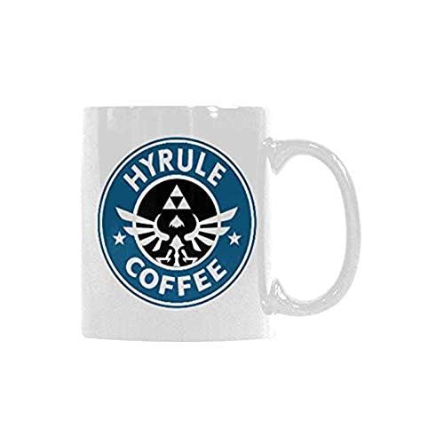 DJNGN Tazas novedosas Taza de café Hyrule Taza de café de cerámica Tazas inspiradoras divertidas 11 onzas 4JIRQS