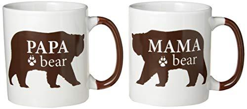 DEI Mama Papa Bear Mug, 20oz, Mulitcolor