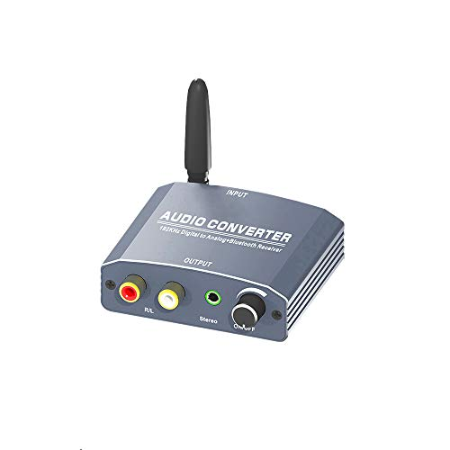 Elikiv Digitaal Naar Analoog Audio Converter Versterker Decoder Glasvezel Coax Signaal Naar Analoog Rca L/R 3. 5 Mm Audio Converter