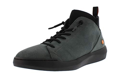 Softinos Damen Sneakers BIEL549SOF, Frauen High Top Sneaker,lose Einlage, Sneaker-Stiefelette sportschuh mid-Cut,Grau(Grey Slate),36 EU / 3.5 UK
