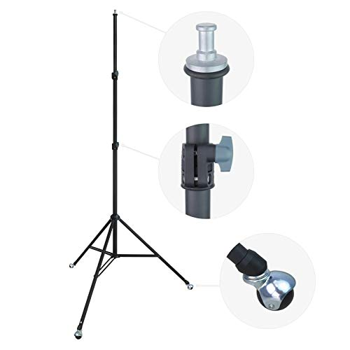 Linco Lincostore Zenith 9 feet Heavy Duty Light Stand with Casters for Photography Strobe Flash Lighting