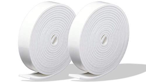プランプ オリジナル 隙間テープ スキマッチ 白 ホワイト 厚 2 mm × 幅 15 mm × 長 2 m 2本入(合計4m) 日本製 ゴムスポンジ 防水 防音 すきま 窓 玄関 引き戸