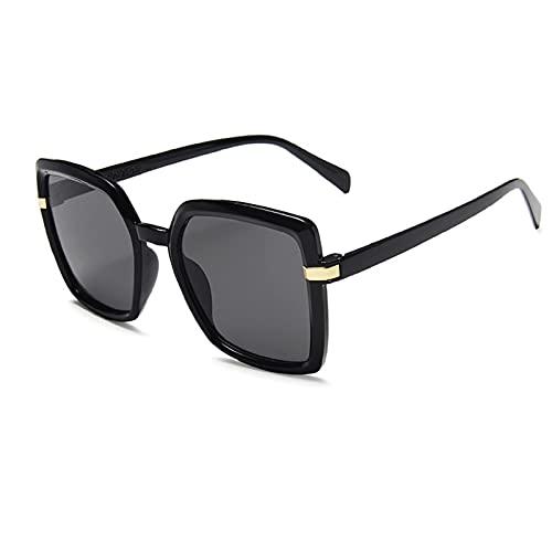 NBJSL Gafas de sol con montura grande de moda para mujer Gafas de sol para exteriores de playa para mujer Embalaje de regalo exquisito