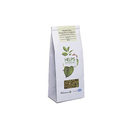 HELPS INFUSIONS - Infusion de tilleul, d'eucalyptus et de thym en vrac. Tisane pour lutter contre le rhume et la toux. Sac en vrac 100 grammes.