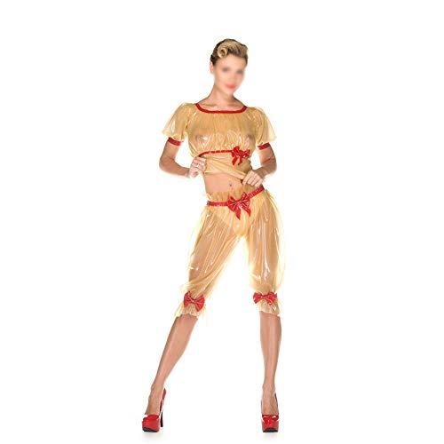 Artool Traje De Látex Ropa Pijamas Atractivos De Látex Traje Ropa Atractiva Que Liga Transparente Gel Bra Arco Pijamas,Clear,XS