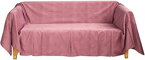 Sliyemo Funda de sofá de Color sólido, Cubiertas de sofá Gruesas de Lujo, Cubiertas de sofá seccional para 1 2 3 4 Sofá de Asiento Protector para Perros adecuados (Color : C, tamaño : 180 * 400cm)