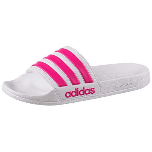 adidas Women Adilette Badelatschen (38 EU, White/pink)